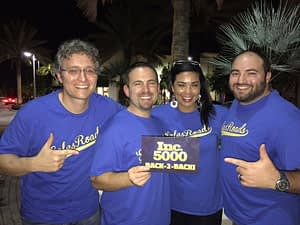 SalesRoads Team Celebrating INC 5000