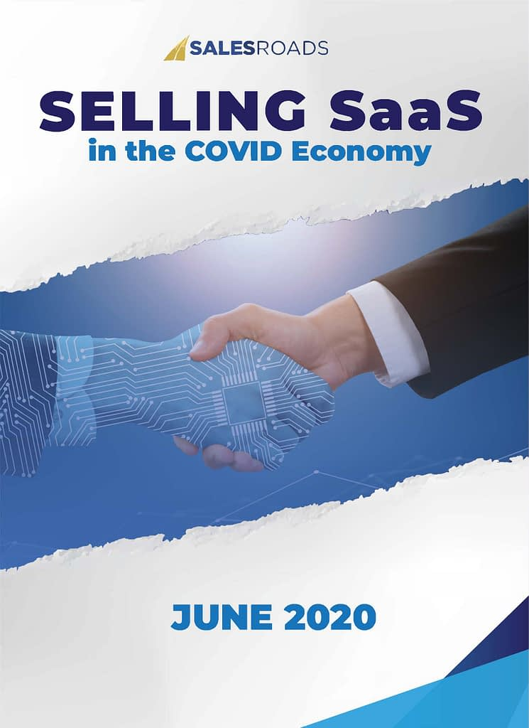 Front Cover - SalesRoads White Paper - Selling SaaS in the Covid Economy