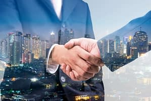Outsourced Sales Agent Shaking Hands